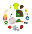 american football flat icons vector image vector image