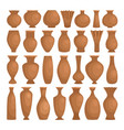 ancient bowls decorative clay ceramic vector image vector image