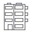 apartment building line icon sig vector image vector image