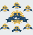big sale tags with badges and labels vector image vector image