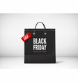 black paper bag with tag sale and text black vector image