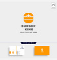 burger spoon fork simple flat logo design vector image vector image