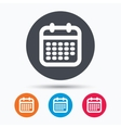 Calendar icon Events reminder sign vector image vector image