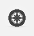 car wheel with tire simple icon vector image