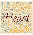 Congenital Heart Disease Open Heart Surgery For vector image vector image