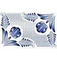corner gzhel vector image vector image