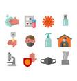 coronavirus icons vector image vector image