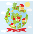 countryside in flat style vector image
