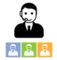 Customer support service - call center assistant vector image