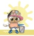 Cute Artist Owl vector image vector image