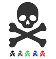 death flat icon vector image