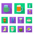 design of drink and bar sign set of drink vector image vector image
