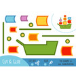 education paper game for children sailing ship vector image vector image