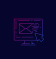 email marketing line icon vector image