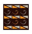 ethnic handmade ornament tribal repeat design vector image vector image