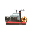 fishing trawler for seafood production retro vector image vector image