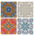 floral seamless texture collection vector image