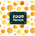 food pattern apple and orange background im vector image