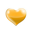 golden shiny heart shape isolated on white vector image vector image