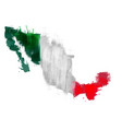 grunge map mexico with mexican flag vector image