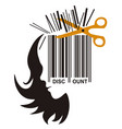 hairdresser price cutting concept vector image vector image