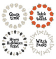 halloween frames handdrawn lettering phrase vector image