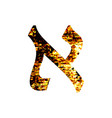 hebrew letter aleph shabby gold font the hebrew vector image vector image