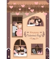 house full couples in love vector image vector image