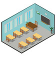 isometric 3d interior class vector image