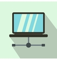 Laptop icon in flat style vector image