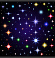 light glare space stars of lens vector image vector image
