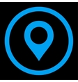 Map Marker flat blue color rounded icon vector image vector image