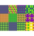 Mardi Gras seamless patterns vector image