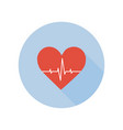 medical palpitation icon heartbeat healthcare and vector image