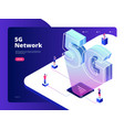network 5g wireless data transmission 5g vector image