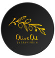 olive branch with olive leaves hand drawn and vector image vector image