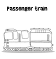 Passenger train with hand draw vector image