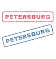 petersburg textile stamps vector image vector image