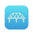 Rail way bridge line icon vector image vector image