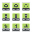 recycle icons and recycling signs set trash vector image