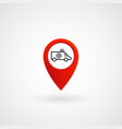 red location icon for ambulance eps file vector image