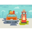 Refuel Car at Gas Station vector image vector image