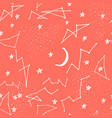 seamless pattern with constellations seamless vector image vector image