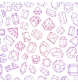 seamless pattern with Diamond gemstones and vector image