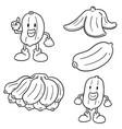 set of banana vector image