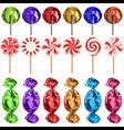 set of lollipops vector image vector image