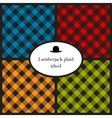 Set of tilted lumberjack plaid patterns vector image