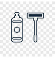 shaver cleanin concept linear icon isolated on vector image