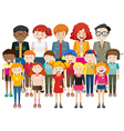 Simple characters with happy face vector image vector image