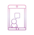 smartphone video chat phone gradient icon vector image